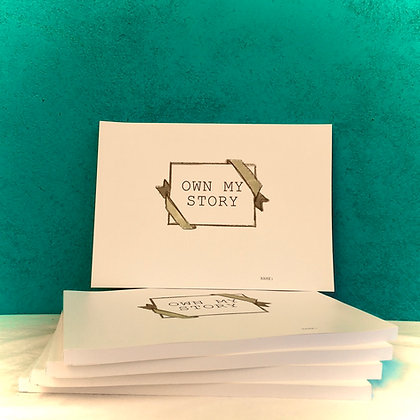 Own My Story Journals - pack of 10 (inc. p&p)