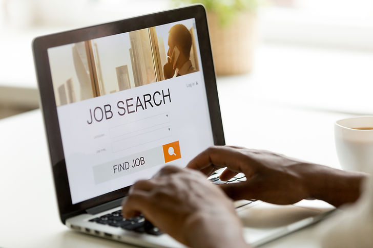 African man browsing work opportunities