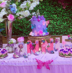 Purple Butterfly Themed- Real Cake