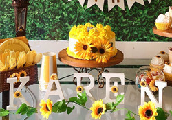 Sunflower garden- Small Real Cake