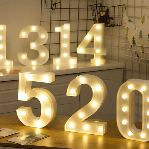LED Wooden Numbers