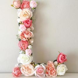 """L"" Floral letter"
