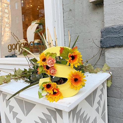 Letter S-  Sunflowers