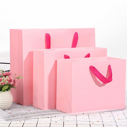 Pack of 3 Pink Souvenir Gifts Bags