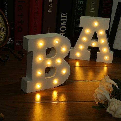 LED Wooden Alphabet Letters
