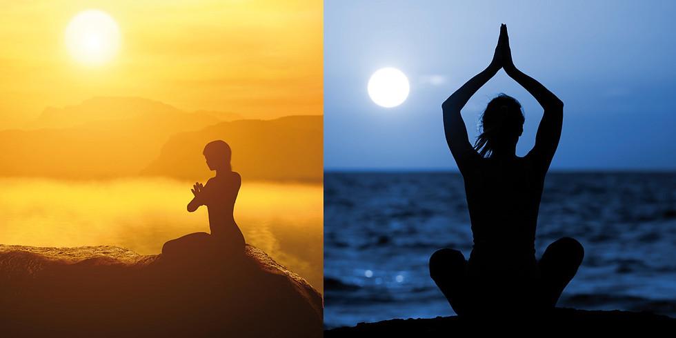 Secuencias clásicas del Yoga, Saludo al Sol y Saludo a la Luna