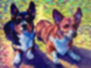 #thepetimpressionist #corgis #petportrait #dogpainting #dogimpressionistpainting #animalpainting