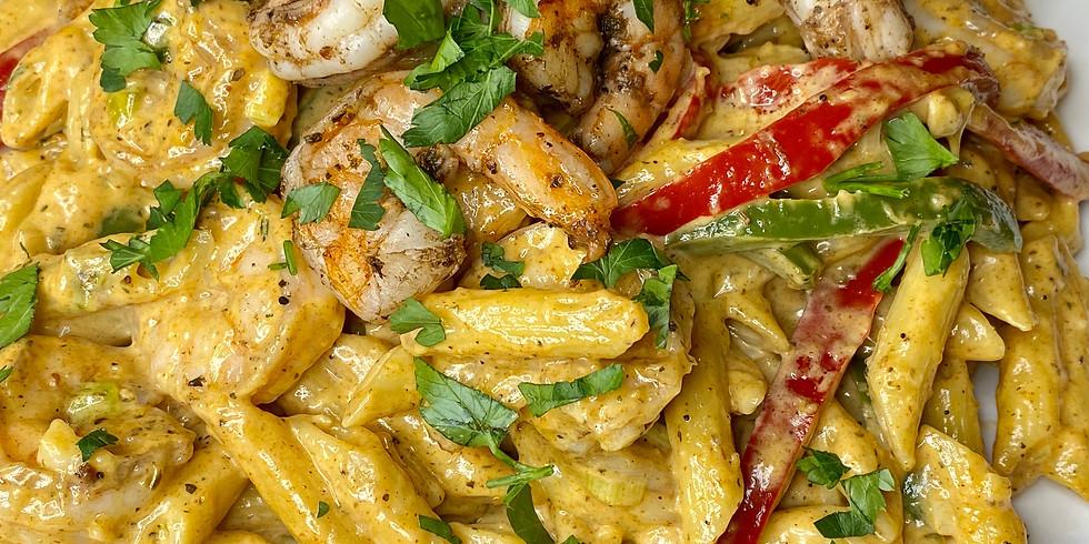 Jerk Shrimp Pasta