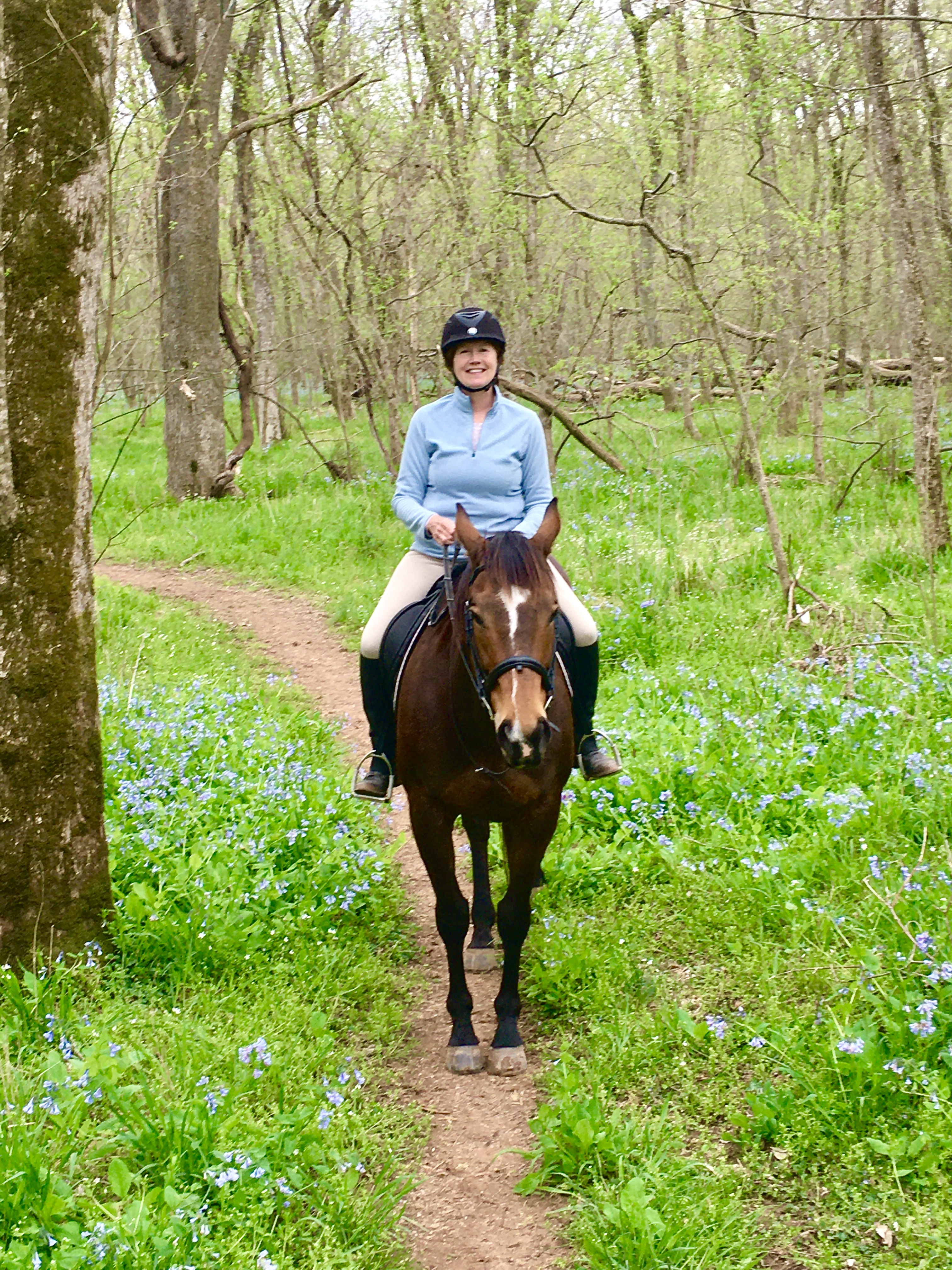 Trail ride during blue bell season.