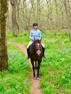 Trail ride during blue bell season.