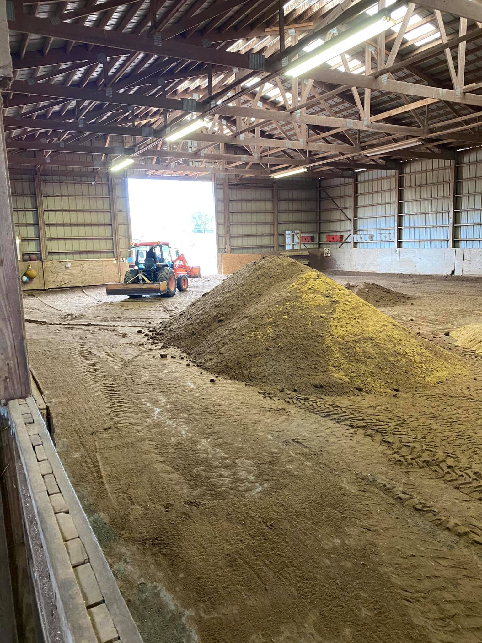 New indoor footing and leveling - Jan 2021