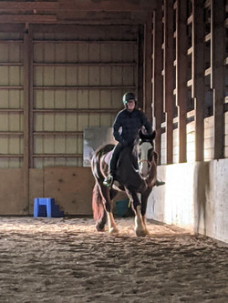 Indoor arena is great for winter riding