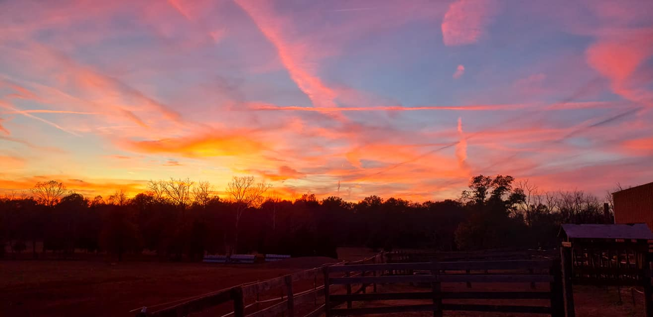 Beautiful sunsets on the farm.