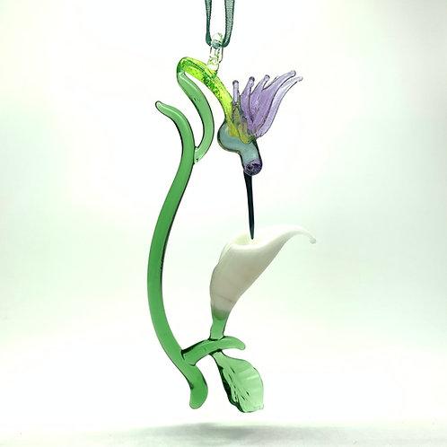Hummingbird with Calla Lily Ornament
