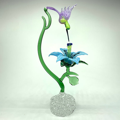 copy of Hummingbird with Tiger Lily Figurine