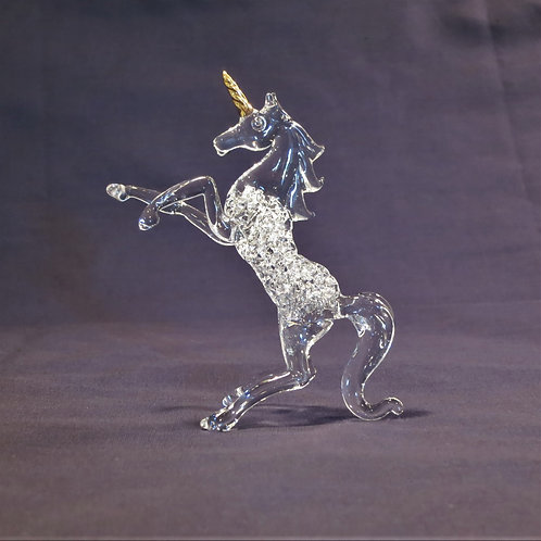 Unicorn Figurine -Clear