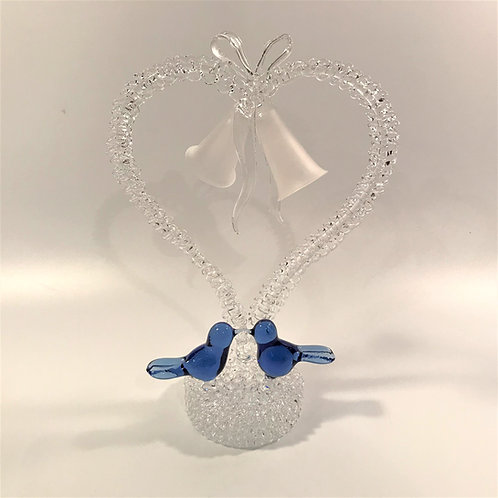 Blue Birds Wedding Cake Topper