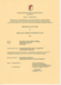 Offizielle Bewilligung Arbeitsvermittlun