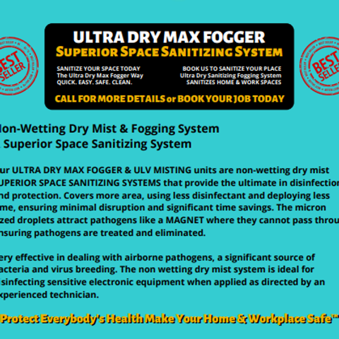 SUPERIOR SHIELD SEALANTS - ULTRA DRY MAX FOGGER