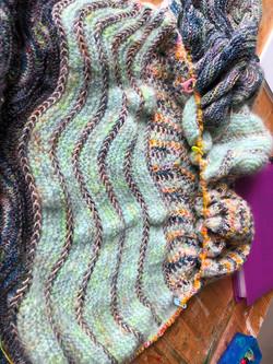 sjaal in Qingfibre