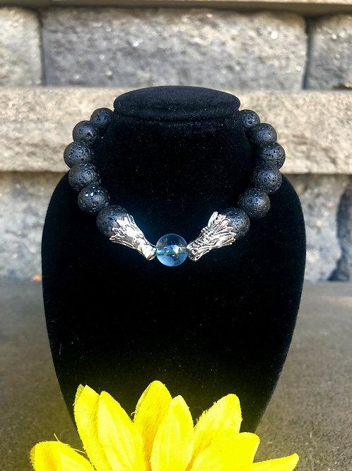 The Blue Dragon Lava Stone Bracelet