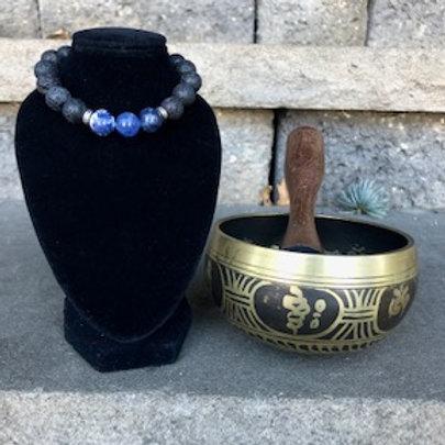 The Intellect Lava Stone Bracelet