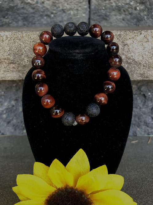 The Eye of the Tiger Lava Stone Diffuser Bracelet