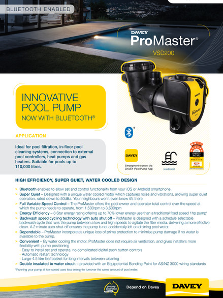 Davey ProMaster VSD200BT