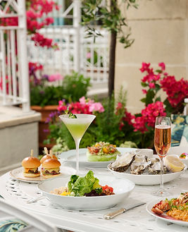 The Dorchester Rooftop-BHH Polo Lounge pop up-table spread-highres2.jpg