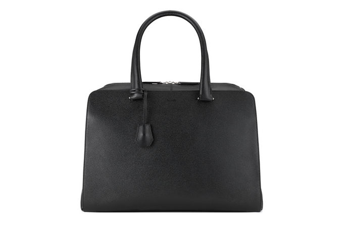 Black leather bag by Bally