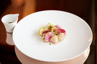 CUT at 45 Park Lane-Yellowtail, radishes
