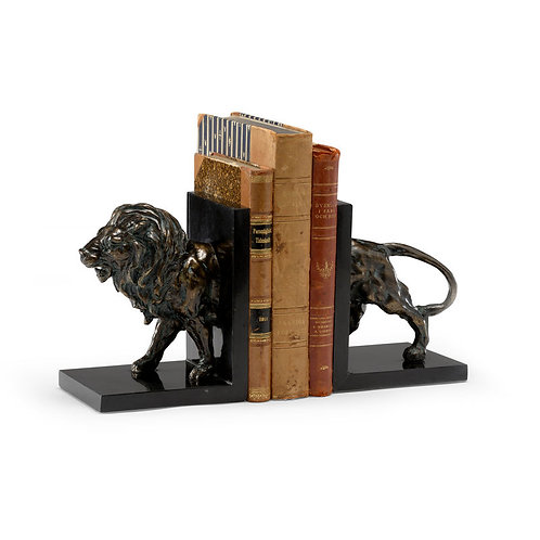 LION CREST BOOKENDS (PR)