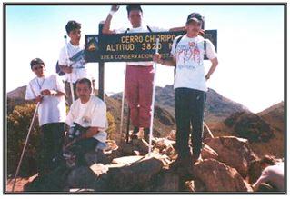 Au sommet du Mont Chirripó du Costa