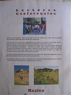 Conférence donnée au Mexique