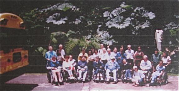 Visiteurs handicapés au CR