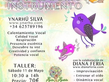 """Tenerife 11 de Mayo Taller """"La Voz como instrumento"""""""