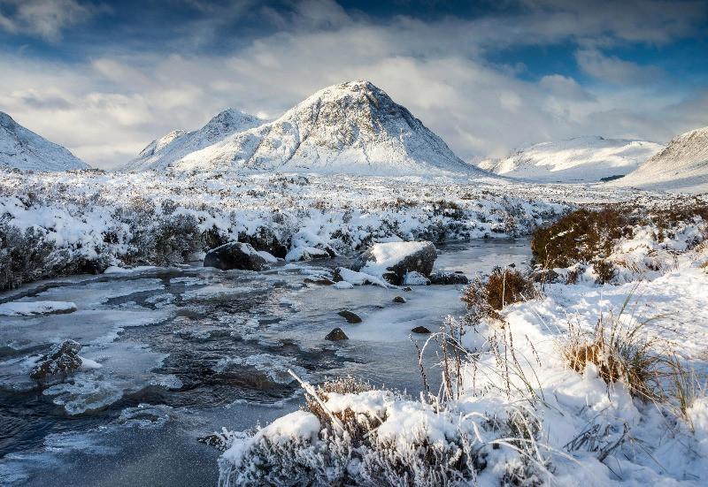 snow on montain landscape