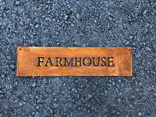 Farmhouse-Schild | Rostoptik