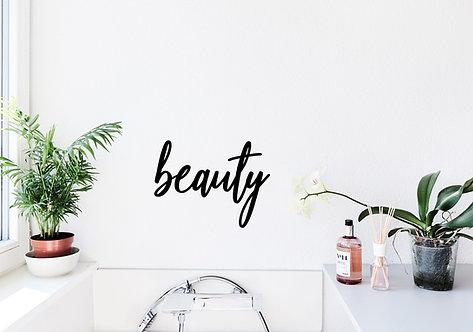 beauty - Schriftzug
