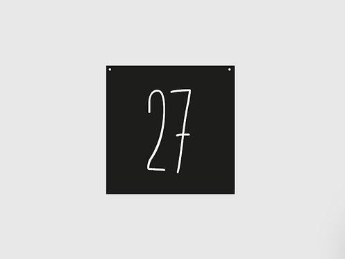Hausnummernschild (Individualisiert - Schriftart 2)
