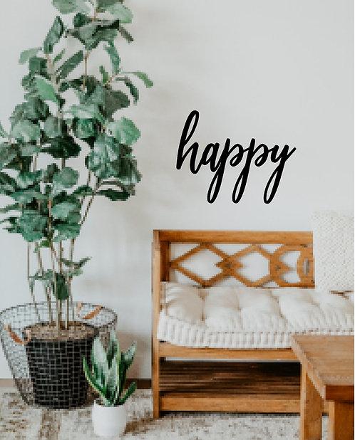 happy - Schriftzug
