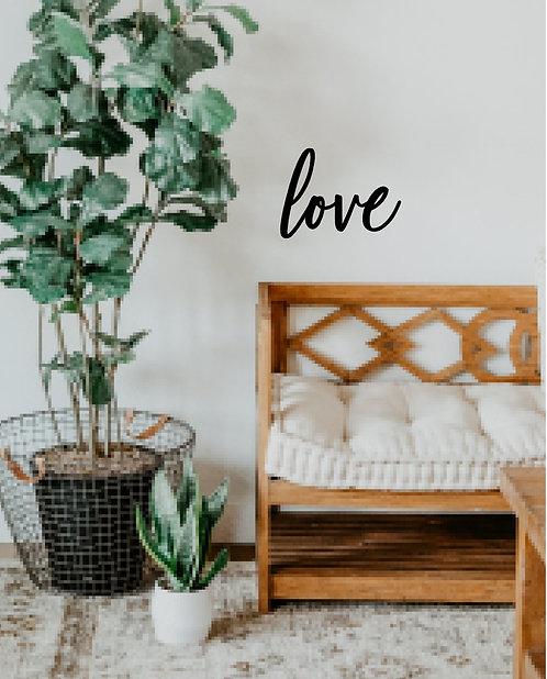 love - Schriftzug