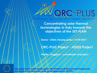 ORC-PLUS presentation at a SET-PLAN workshop in Italy