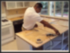 Our personal carefully measures your existing surfaces and build a template to get every detail correct.