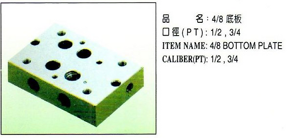 4/8底板 四孔在旁Bottom Plate with four side holes