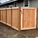 Wood Fencing Gate La Pine Elite Landscap