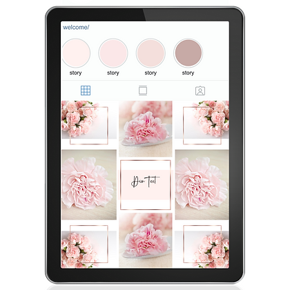 ROSE GOLD -  9 INSTAGRAM PUZZLE GRID