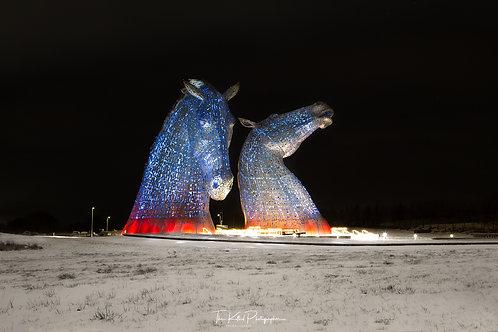 The Kelpies at Night