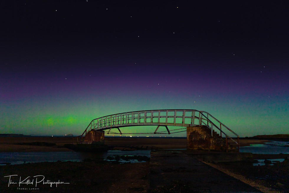 Northern Lights at Belhaven Bridge