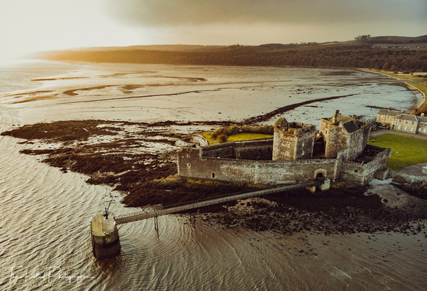 Blackness Castle from the Air